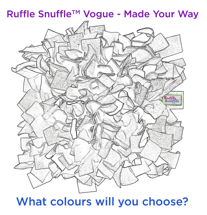 Pick your own colours snuffle mat • Ruffle Snuffle Vogue - snuffle mat by Ruffle Snuffle