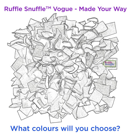 Pick Your Own Colours • Custom Handmade Snuffle Mat • Ruffle Snuffle Vogue - snuffle mat by Ruffle Snuffle