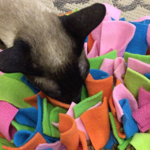 Ruffle Snuffle Meow • with added catnip - snuffle mat by Ruffle Snuffle