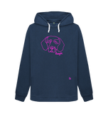 Beloved Beagle Ladies Hoodie Navy