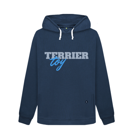 Terrier Toy ladies navy hoodie