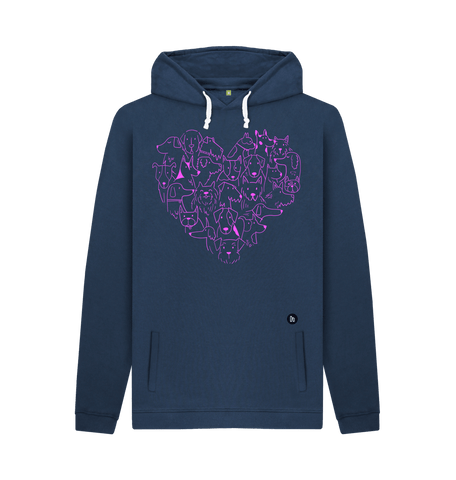 For the Love of Dogs Unisex Hoodie - Navy