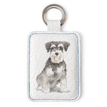 Load image into Gallery viewer, Rainbow Bridge  - Dog Breed in Memory Leather keyring