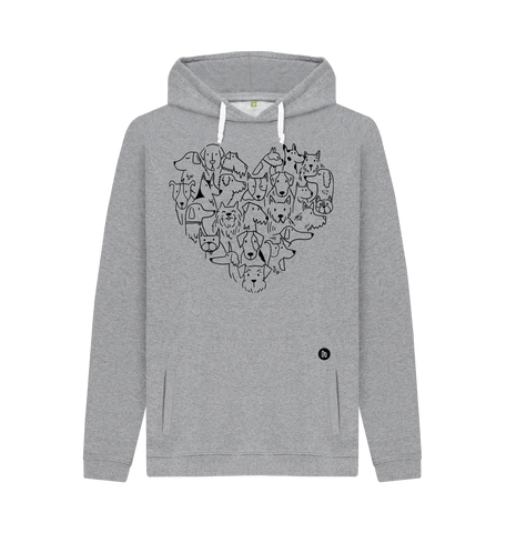 For the Love of Dogs Unisex Hoodie - Grey