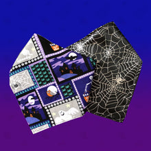 Load image into Gallery viewer, Witches & Cobwebs Reversible Dog Bandana - snuffle mat by Ruffle Snuffle