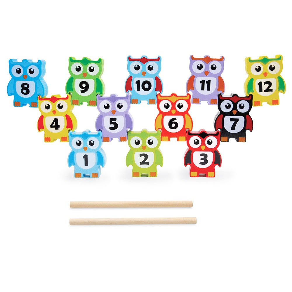 Colourful Stacking Owls
