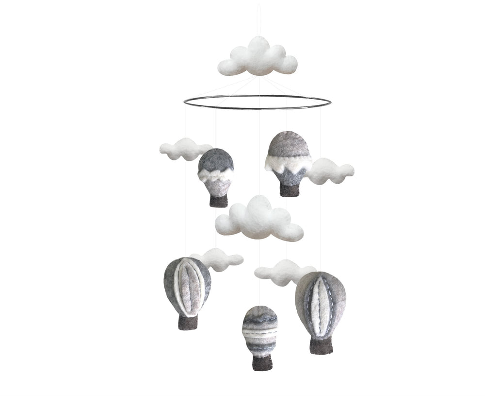 Mobile - Hot air Balloon Grey