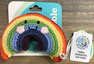 Friendly Rainbow Baby Rattle