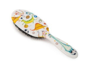 Natural Bristle Children's Hair Brush - Dinosaur