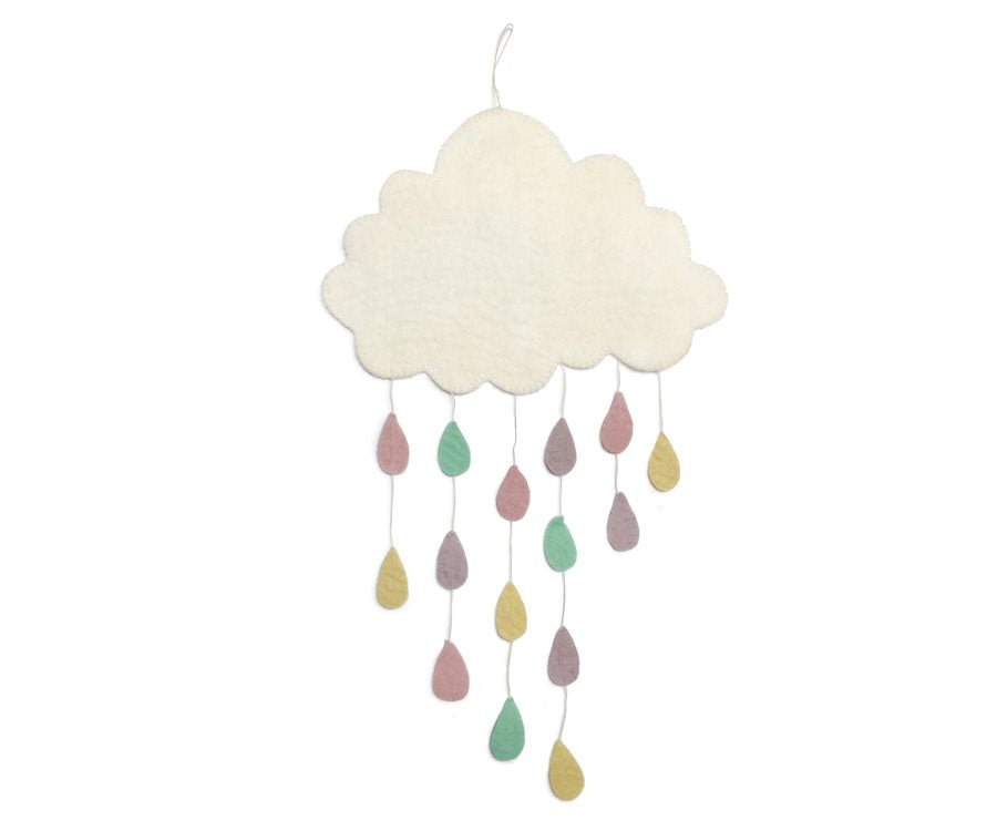 Cloud with pastel raindrops