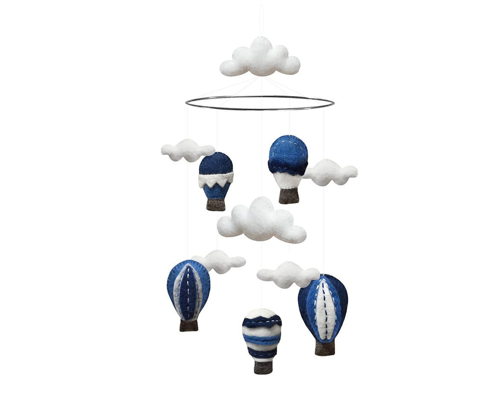 Mobile - Hot air Balloon Blue