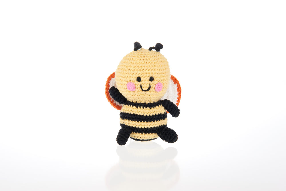 Crochet Bee Baby Rattle