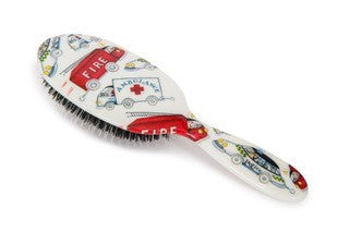 Natural Bristle Children's Hair Brush  - Trucks