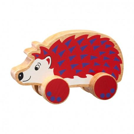 Wooden push along hedgehog