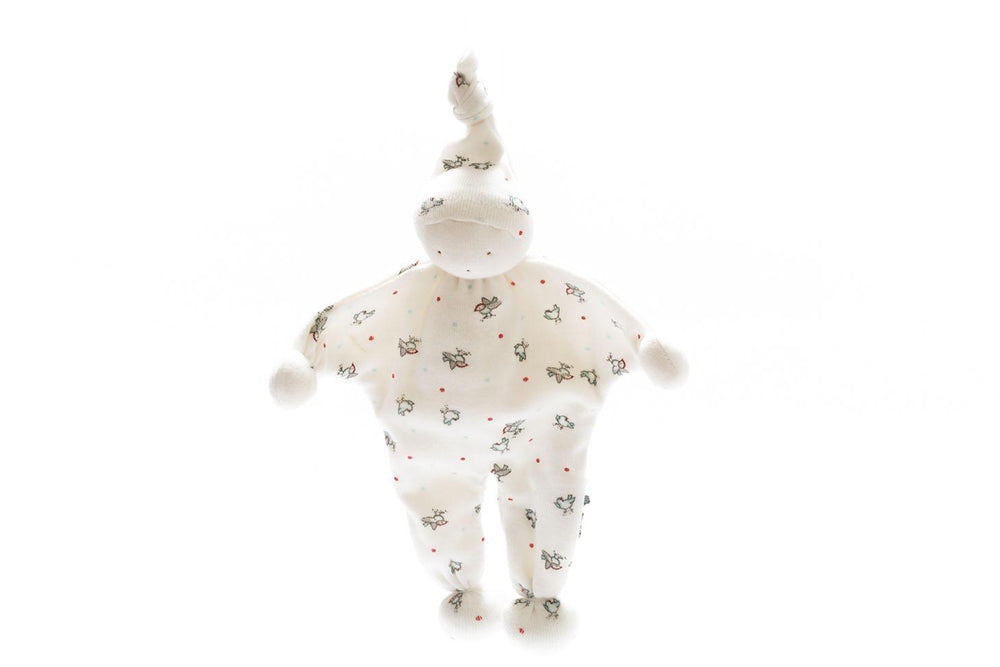 Organic Baby Comforter, Baby Buddy - Birds and Spots
