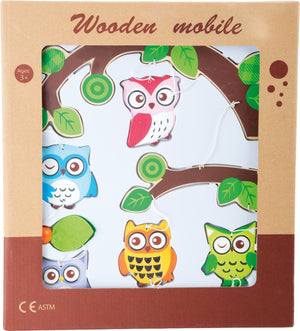 Wooden Owl Mobile