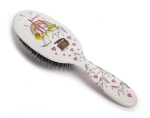 Natural Bristle Children's Hair Brush  - Unicorn