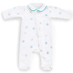 Magnet Mouse - Teal star Sleepsuit