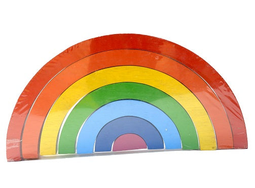 Sustainable wooden  7 Piece Rainbow