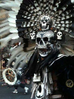Mictlantecuhtli aztec god of death tattoo