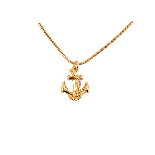 Gold tattoo anchor pendant - Roz Buehrlen - 1