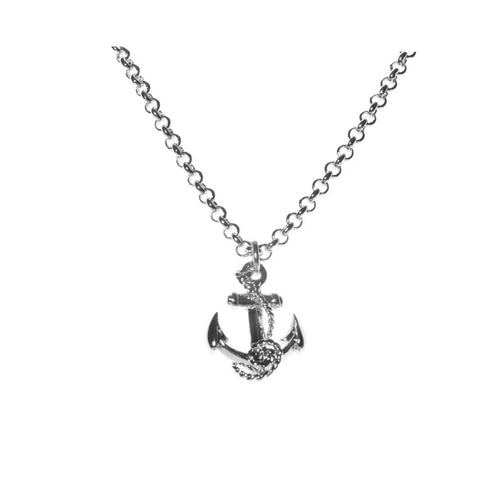 Anchor pendant rohodium