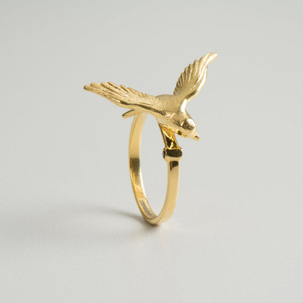 Gold Swallow Ring Arlette Gold
