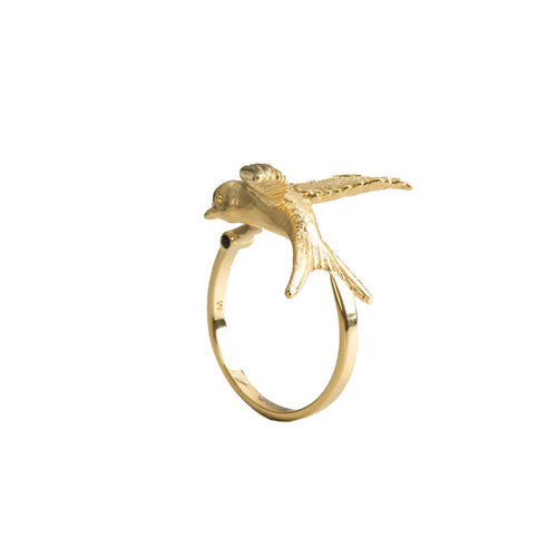 Arlette gold swallow ring