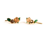 Gold wild rose ear creepers