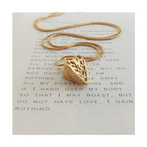 Gold heart Roz Buehrlen Jewellery
