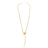 Gold Swallow and Key Necklace - Roz Buehrlen - 1