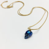 Metalic Blue Pendant 18ct gold
