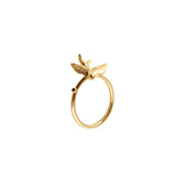 Gold Swallow Ring - Roz Buehrlen - 2