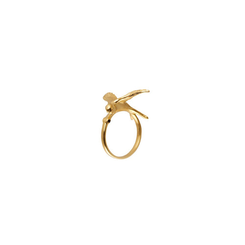 Gold Statement Swallow Ring - Roz Buehrlen - 1