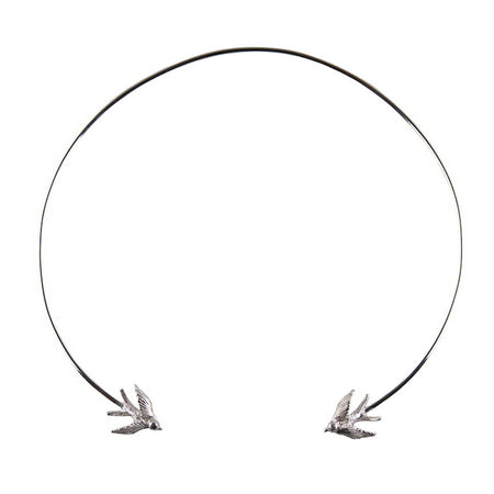 Swallow torc Bangle