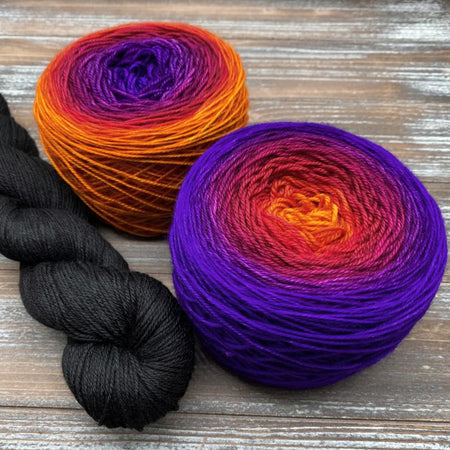 Tangerine to Ultraviolet Painting Honeycombs Shawl Kit