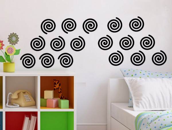 Fifty Spiral Circles Decals Meditation