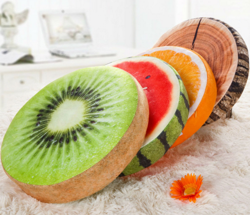 3D Simulation Plush Fruit Meditation Cushion