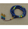108 Lapis Lazuli Mala Beads with Buddha Head Meditation Necklace