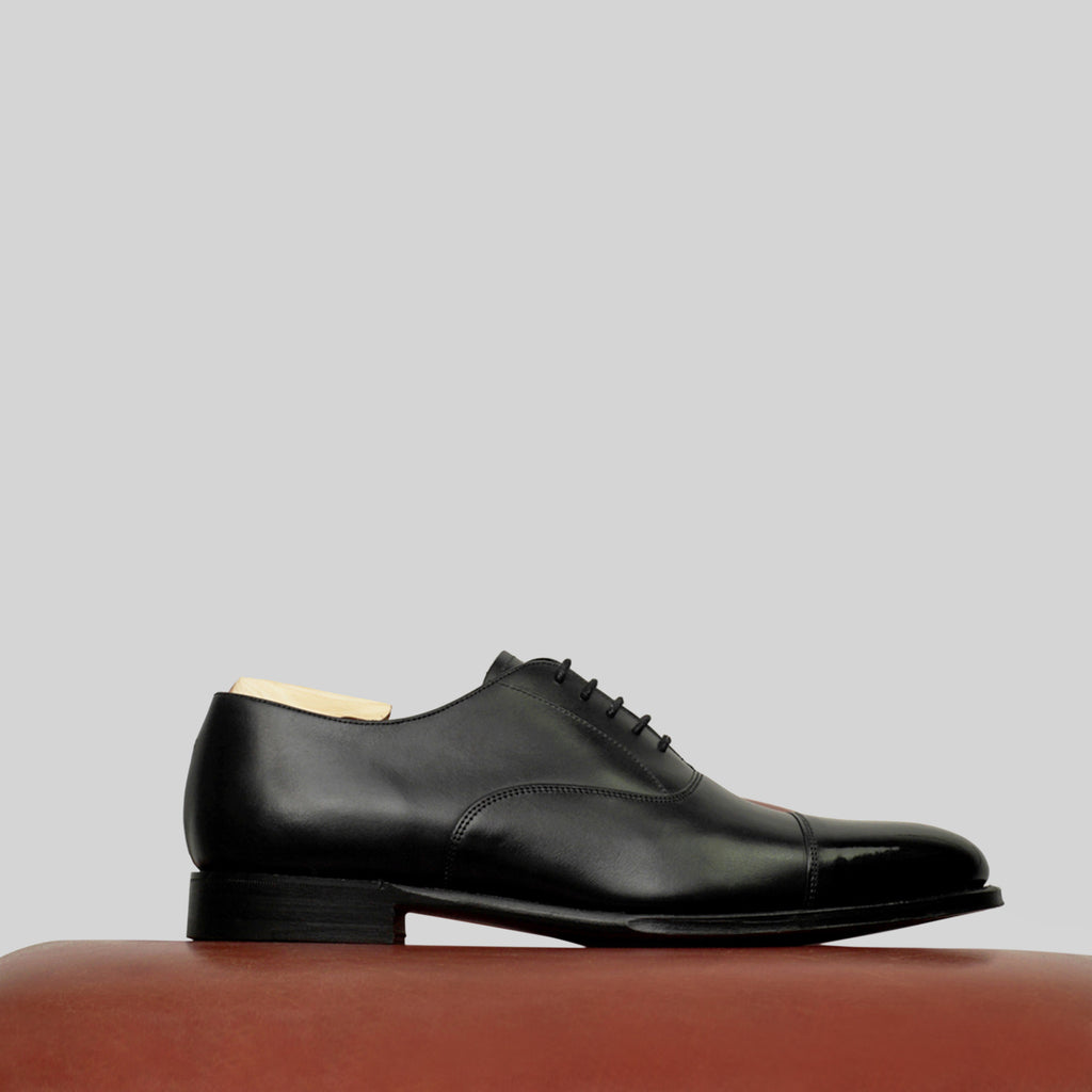 Joseph Cheaney Lime in Black Calf
