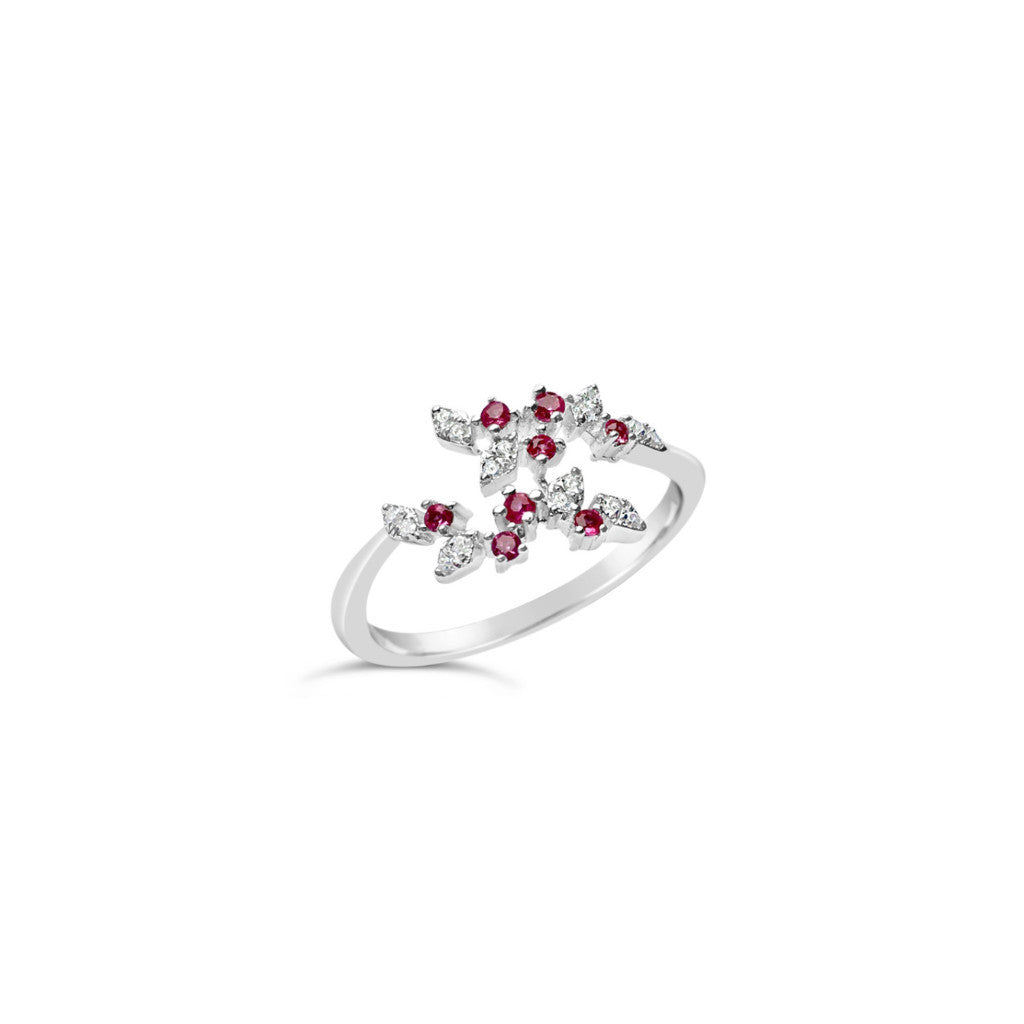 Diamond ring, ruby - Squaregal