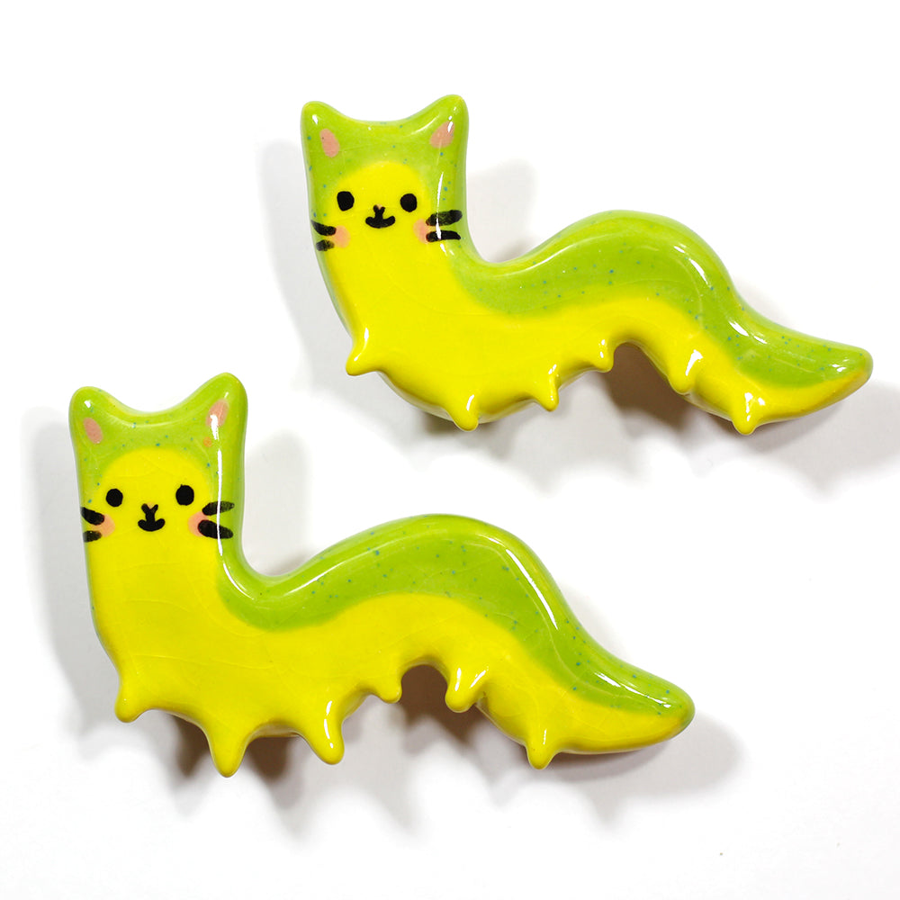 Ceramic Caterpillar Brooch