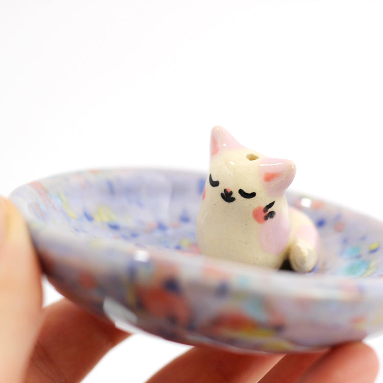 Ceramic Kitty Mini Incense Burner #779