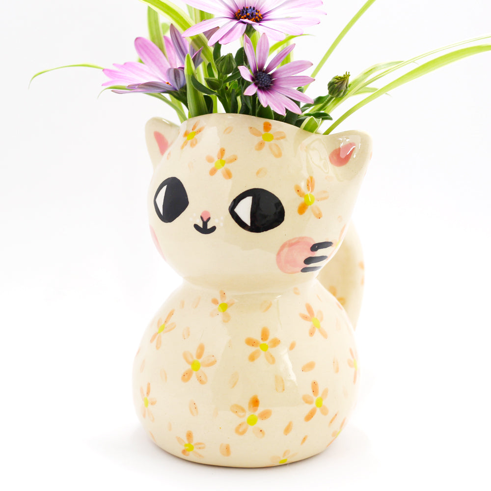 Ceramic Kitty Vase #770