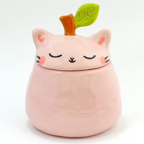 Ceramic Apple Kitty Jar #1297