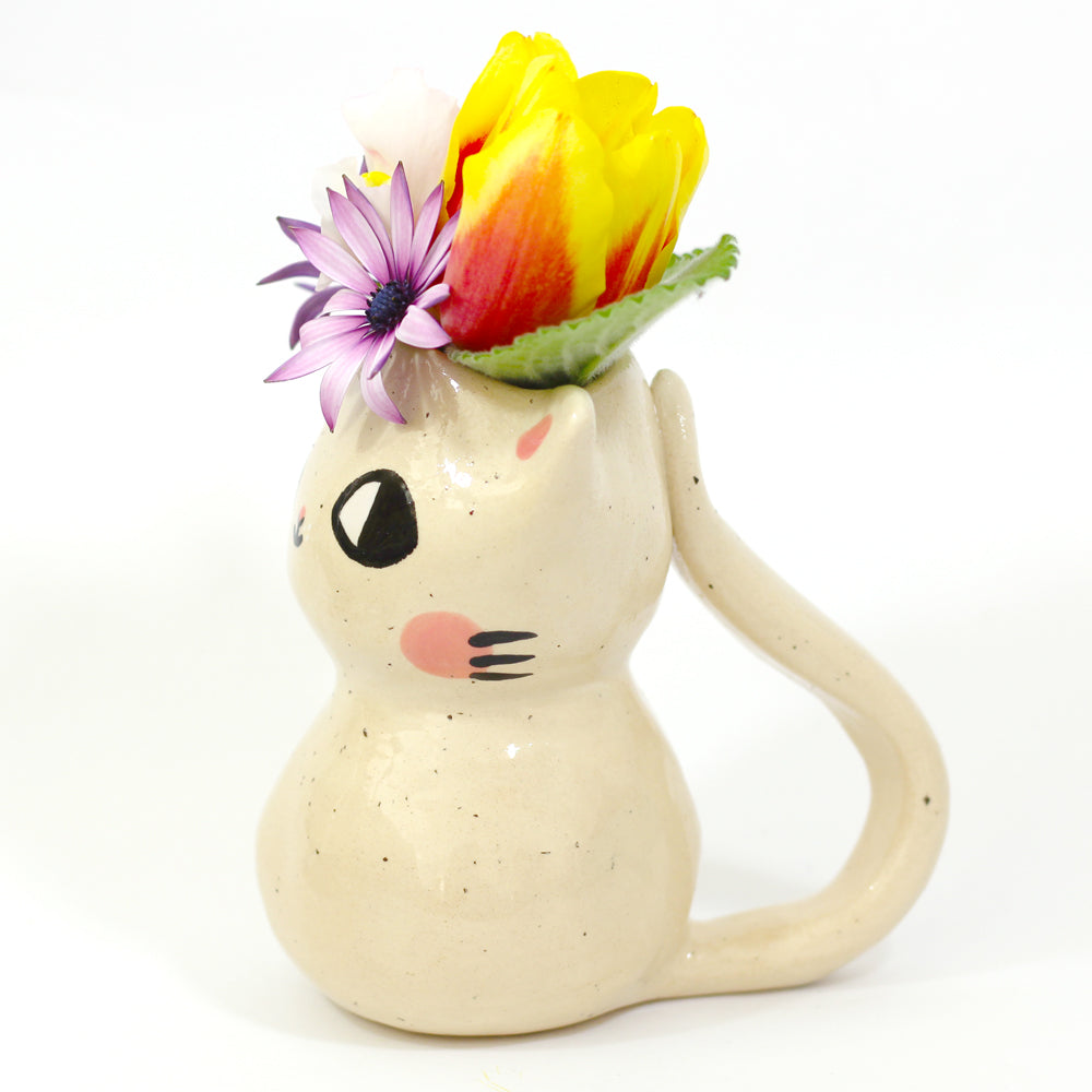 Ceramic Kitty Planter #797 - XXS