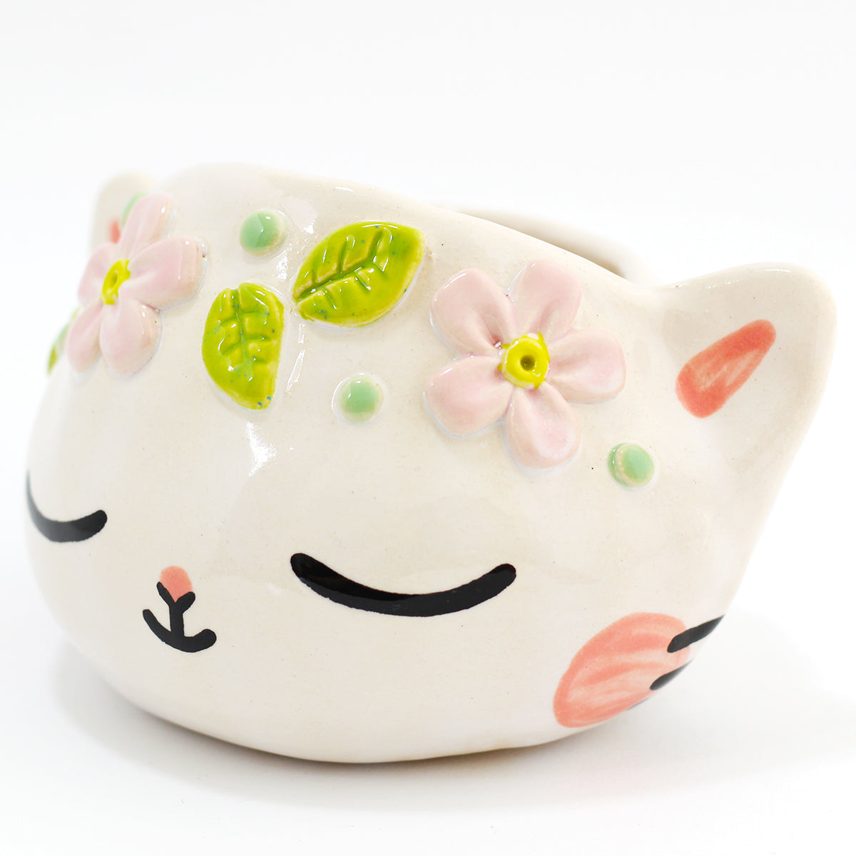 Ceramic Kitty Planter #1304 - XXL