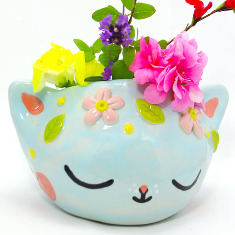 Ceramic Kitty Planter #26  - XXL