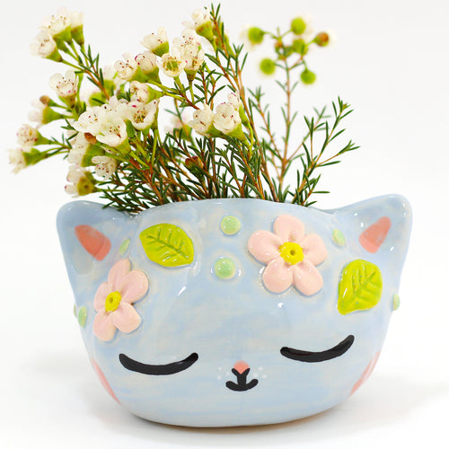 Ceramic Kitty Planter #1305 - L