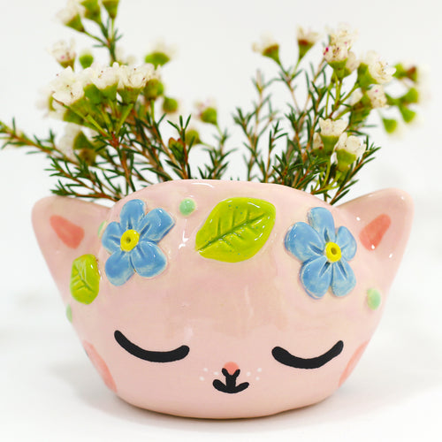 Ceramic Kitty Planter #1306 - L